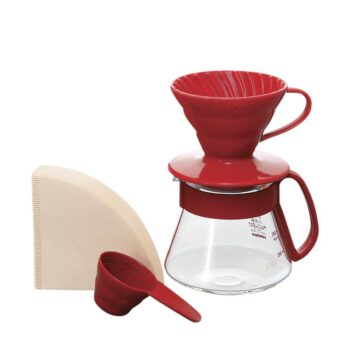 Hario V60 Pour Over Kit Ceramic Red