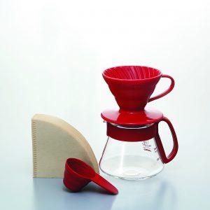 Hario V60 Pour Over Kit Ceramic Red