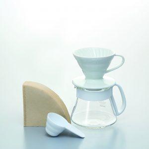 Hario V60 Pour Over Kit Ceramic White