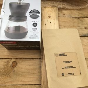 HARIO SKERTON Hand Coffee Grinder + Free 250g Coffe of your choice </br>